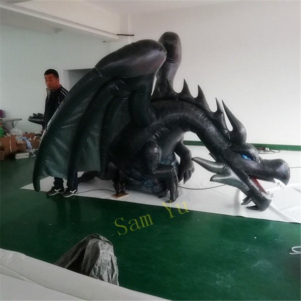 4m length inflatable dragon ground for led  tage event decor inflatable   upplier 2018 nightclub parade clearance