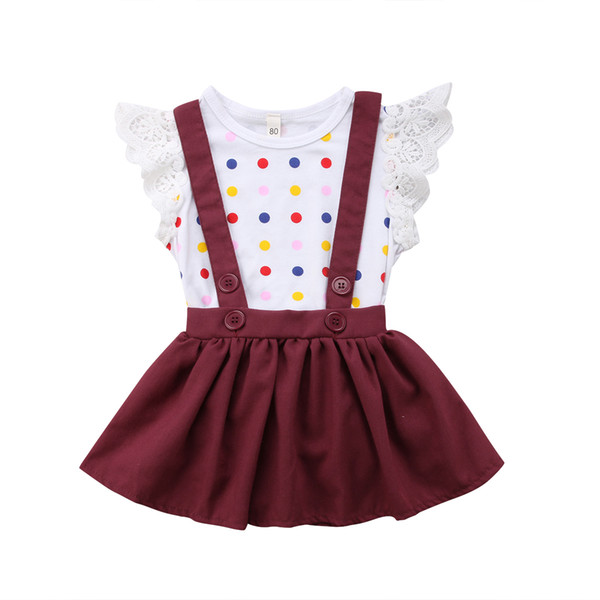 pudcoco new infant newborn baby girls romper playsuit jumpsuit +skirt outfit dress newborn toddler infant baby girls