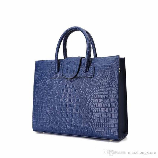 designer luxury handbag purse brw alligator genuine leather women fashion totes large capacity ladies purse handbag (525407802) photo