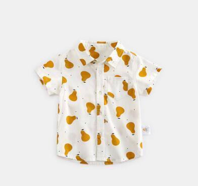 2019 Новая летняя детская мода груши с короткими рукавами футболки Кардиган студентов мальчиков и девочек одежда