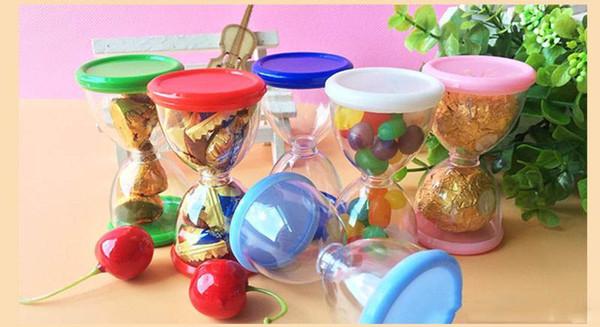 Новый творческий песок часы коробки конфет Пластиковые Песочные часы Подарочные