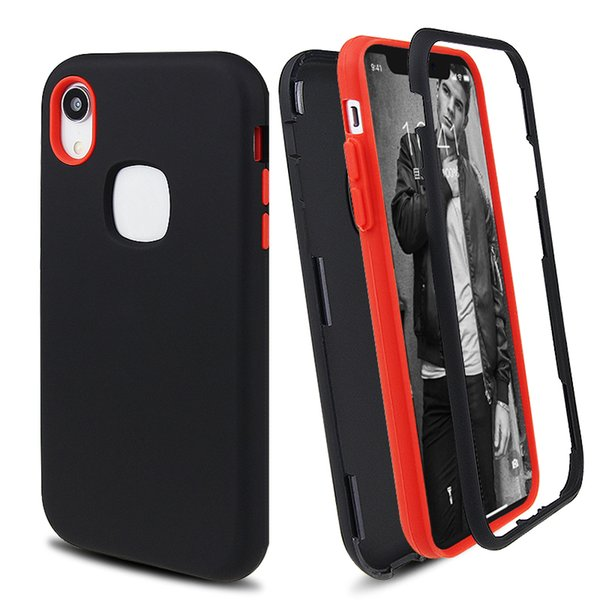 Матовый Конец 3 в 1 Чехол для телефона Hybrid Defender для iPhone XR XS MAX 8 7 6 Plus Samsung S9 Plus Note 9 фото