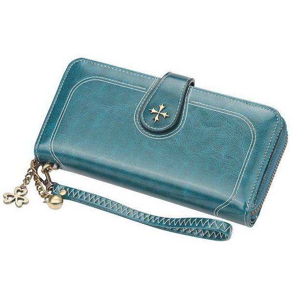 2019 simple fashion pu long wallet women holder organizer purse with zipper slot k-best (483552663) photo