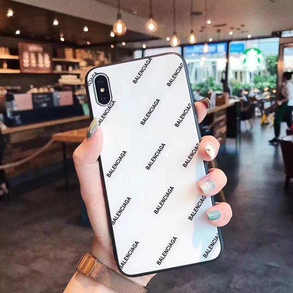 Дизайнерская стекла Глянцевая Letter Конструктор телефонов Чехлы для iPhone 11 Pro Max X XS MA фото