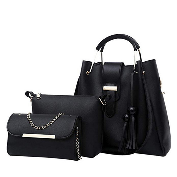 puimentiua 4pcs woman bag set fashion female purse and handbag four-piece shoulder bag tote messenger purse drop shipping (522064952) photo
