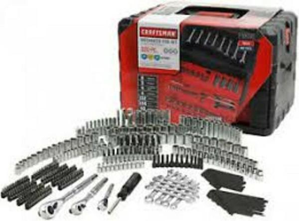 Craft man 450 piece mechanic 039 tool et with 3 drawer ca e box 450pc 99040