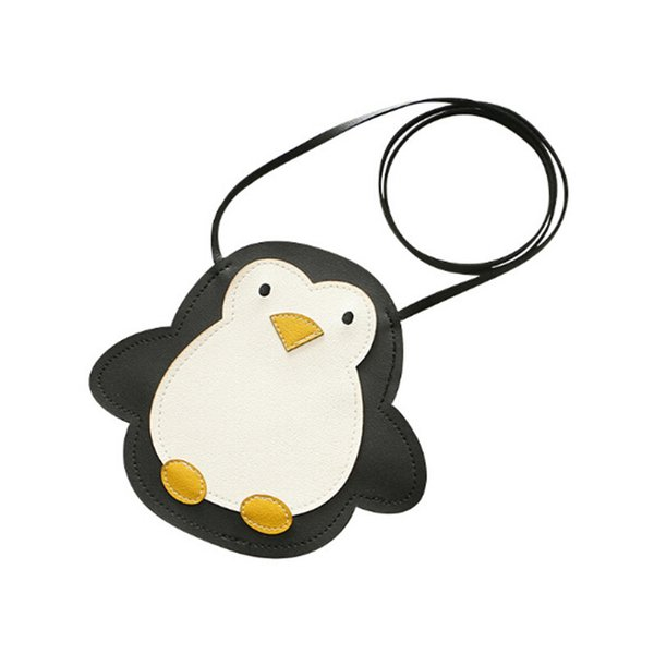 cute penguin pu leather messenger bags children cartoon coin purse kids crossbody case little girl mini shoulder bag (512340639) photo