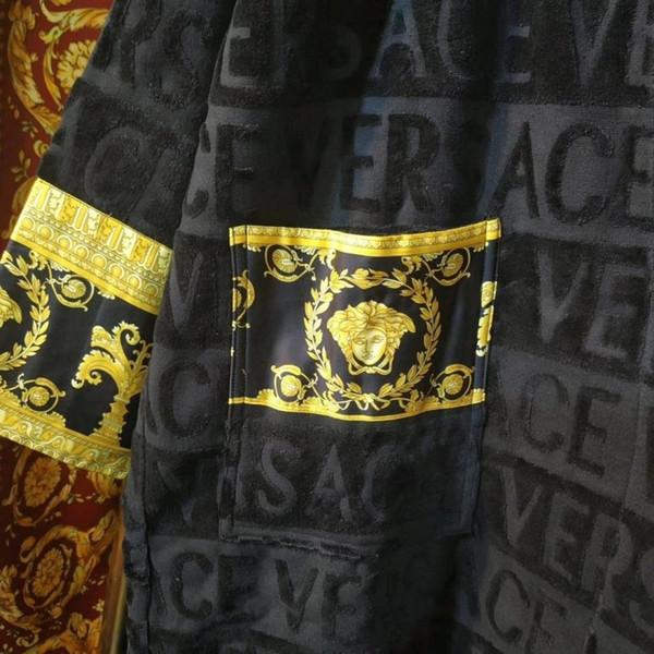 Дизайнер банный халат унисекс хлопок ночной халат высокое качество халат мода ро фото