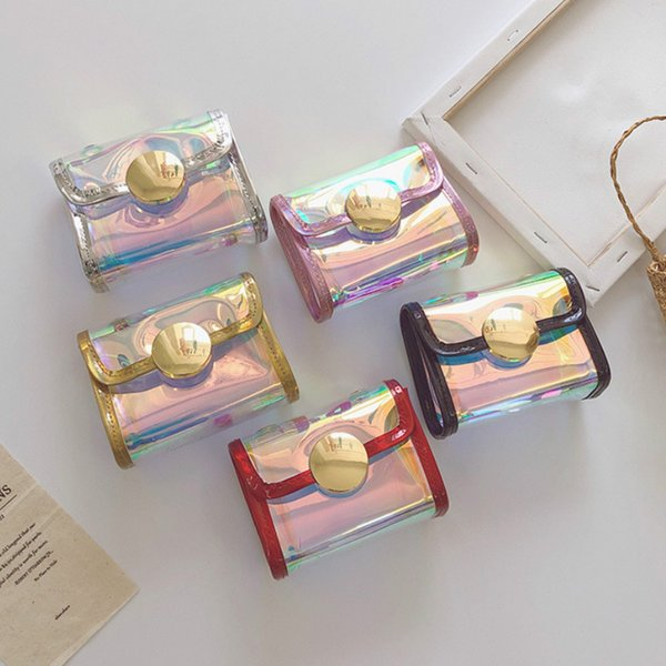 2020 summer transparent jelly crossbody bags for little girl kawaii small coin wallet pouch box baby laser clear bag purse (545394231) photo