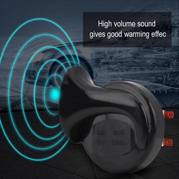 2PIECES 12V 135 дБ для тележки автомобиля Loud двухтональный Snail Electric Air Horn Siren Универсальный фото