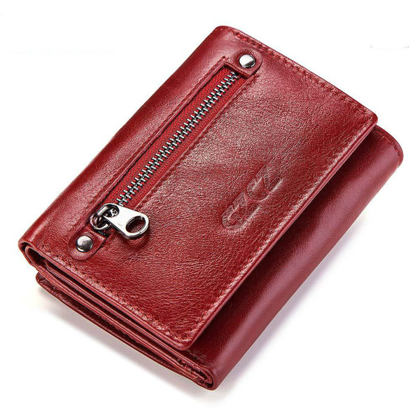 really cowhide ladies wallet blue purse doka position three discount layer cowhide leisure time short fund ma'am european purses for wo (486735854) photo