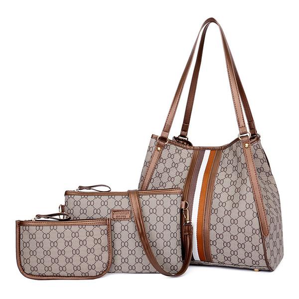 brw designer luxury handbag purse 3pcs composite women fashion totes large capacity ladies purse designer bag (500285793) photo
