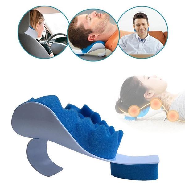 Поддержка шеи дорожная подушка рельефная подушка шеи плечевой мышечный релаксатор тяговое устройство для облегчения боли выравнивание шейного отдела позвоночника фото