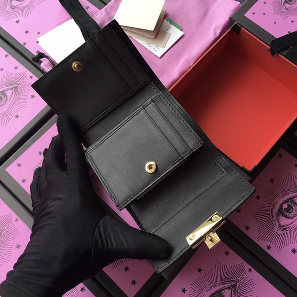 wallets purse clutch bags classic brand short wallets gifts for women fashion designer coin purse with box (473137423) photo
