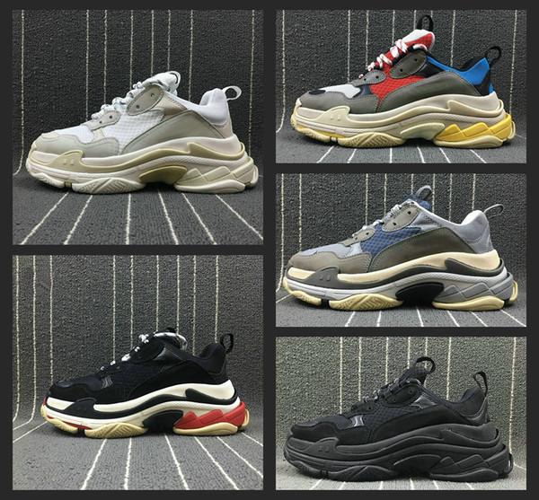 New Fashion Paris Triple-S Designer Shoes Low Platform Sneakers Triple S Mens Casual Women designer casual Sports Trainers Chaussures 36-45 фото