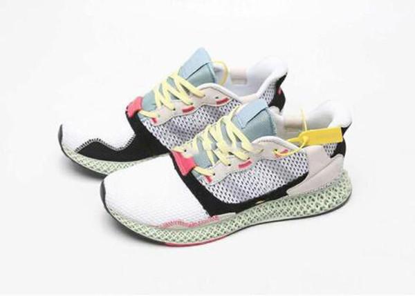 2019 Nouveau ZX4000 4D Углеродные кроссовки для мужчин Кроссовки ZX 4000 Мужские кроссовки Тренер Мужские женские кроссовки Бег на открытом воздухе с коробкой