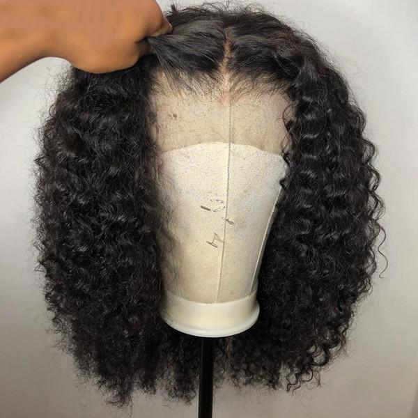 Кудрявый Парик фронта шнурка бразильский Боб парики Короткие парики человечески фото