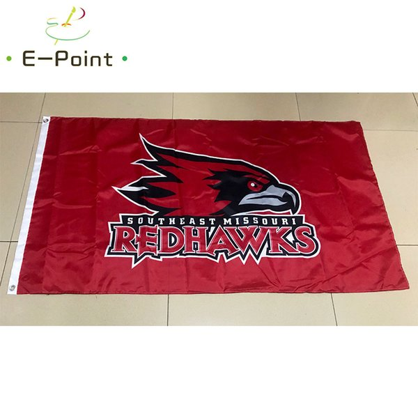 Флаг NCAA Юго-восток штата Миссури Редхокс полиэстер Флаг 3ft * 5ft (150cm * 90cm) Флаг Баннер фото