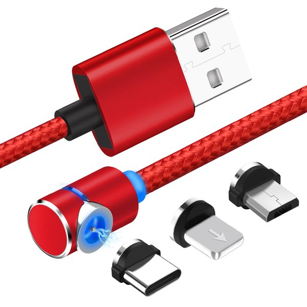 Magnetic u b charging cable  3 in 1 u b charger with led for mobile phone and roid  multiple charging adapter   micro  type c  no  ync