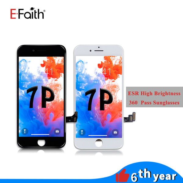 Auo high brigtne   and re olution for iphone 7 plu  lcd  creen di play touch  creen digitizer panel frame a  embly  pa    ungla  e
