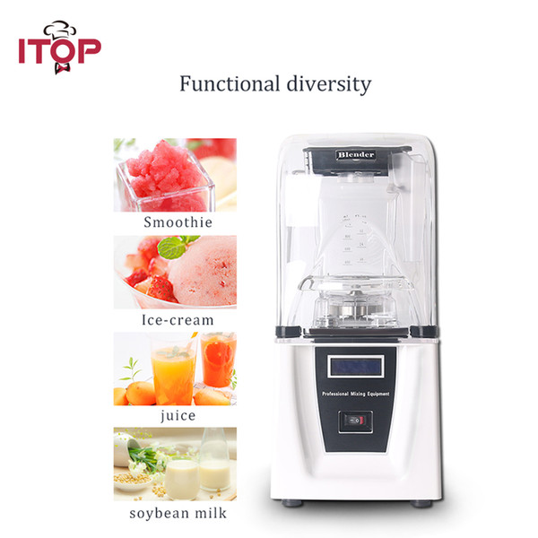 Icommercial ice fruit blender mixer 1800w powerful ice cru her mixing machine with ound cover ea y operation vegetable juicer