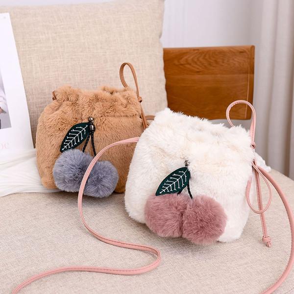 women small purses and handbags female faux fur crossbody bags for women plush string shoulder bag girl clutch purse (513744973) photo