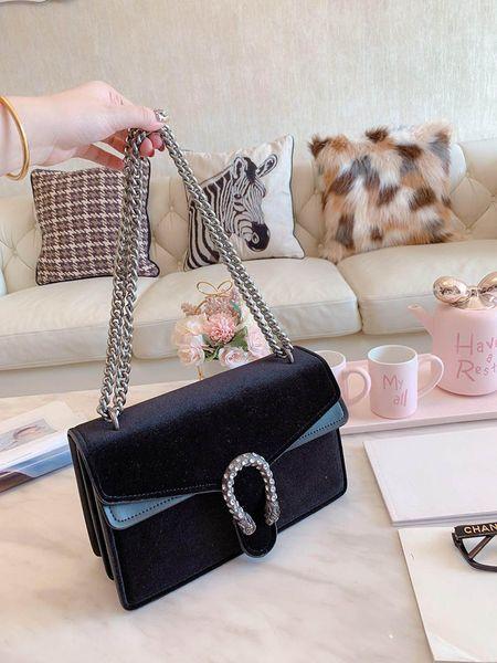 designer luxury handbag purse velvet guchi purses bag women bag lady purses fashion totes purse bag chain bags (492094264) photo