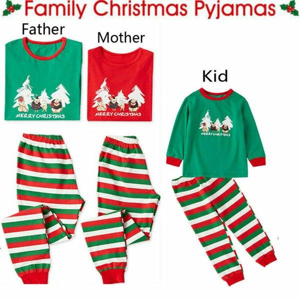 PUDCOCO Рождество Семьи Matching Set Пижама для взрослых Детей Xmas Пижамы Пижама Пижама PJs устанавливает новый фото