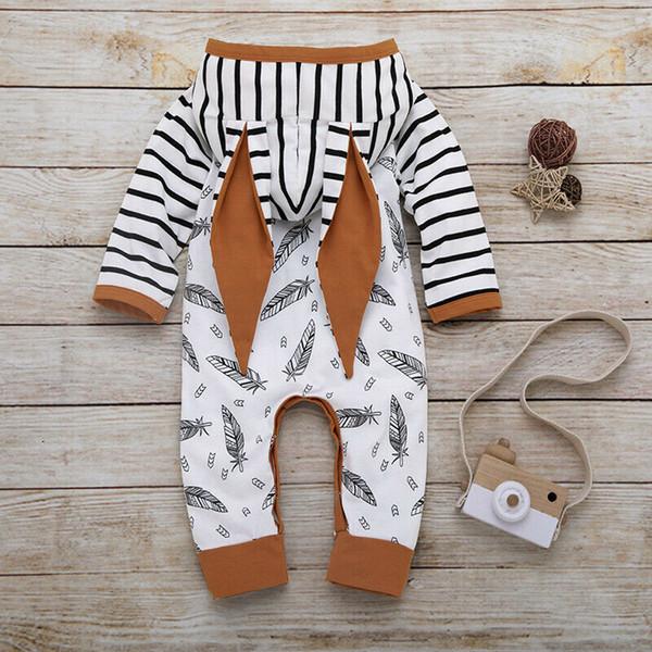 PUDCOCO новорожденных младенцев Baby мальчика девочки в полоску комбинезон Комбинезон комбинезон экипировка одежда поддержка Оптовая фото