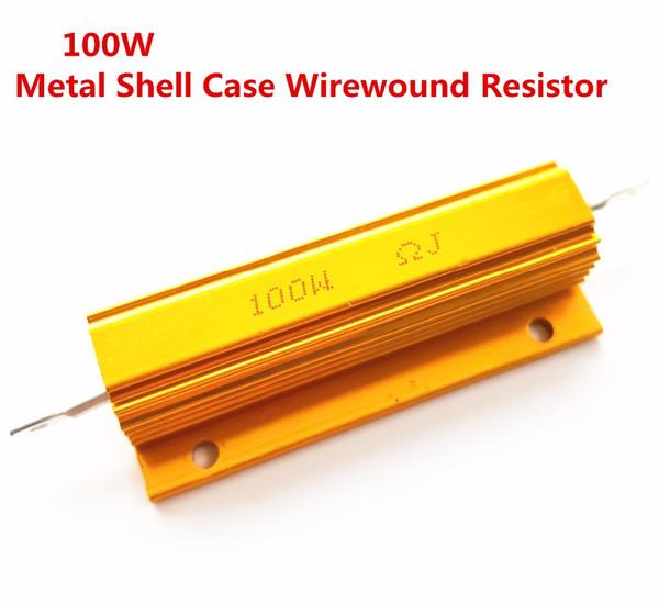 230pcs full value 100w aluminum power metal shell case wirewound resistor 0.01 ~ 100k 0.05 0.1 0.5 1 1.5 2 6 8 10 20 100 1k ohm (479700096) photo