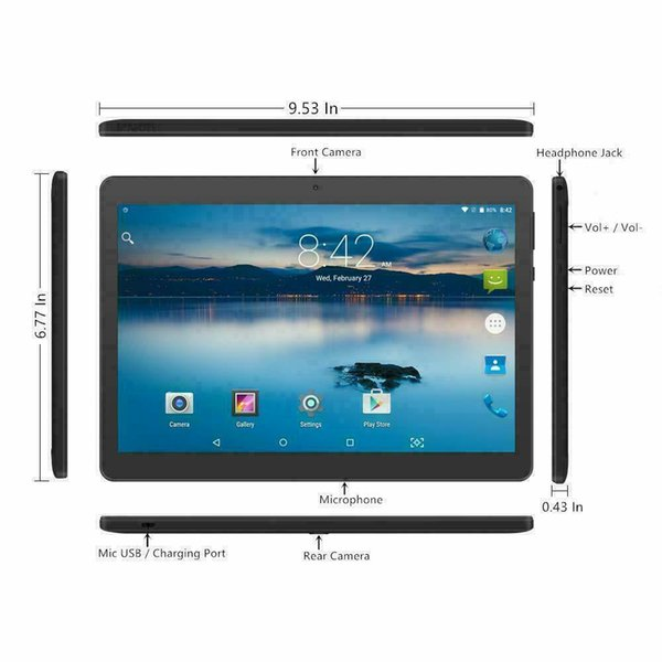 Tablet 10 inch android go 8 1 tablet pc with tf card lot and dual camera
