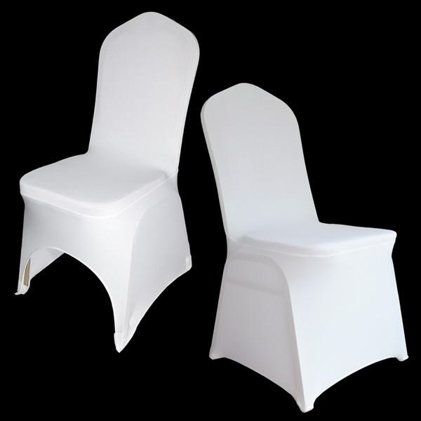 100 pc  univer al white polye ter  pandex wedding chair cover  for wedding  banquet folding hotel decoration decor whole ale
