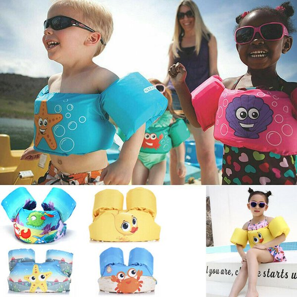 2019 new children puddle jumper swimming deluxe cute cartoon life jacket safety vest for kids baby 2019