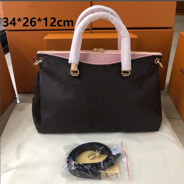 wholesale genuine leather women designer handbags purses ladies shoulder bags 4 color (495118349) photo