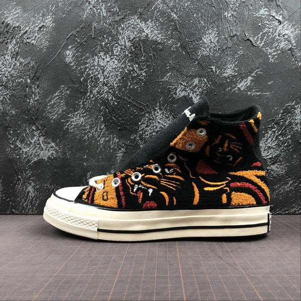 НЕ УКАЗАНО x ЧАК 70 HI Leopard tiger 70s ox Вся повседневная обувь из плотной ткани 1970-х Мужские кроссовки Спортивные женские дизайнерские кроссовки Star