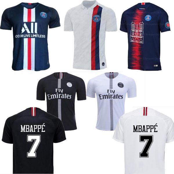 2019 mbappe p g home away third black men occer jer ey maillot 19 20 cavani pair mbappe maillot de foot uniforme de futebol hirt 2020