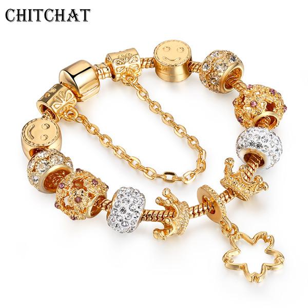 luxurious_pentagram_silme_face_crown_charm_bracelets_&_bangle_snake_chain_crystal_pan_bracelets_jewelry_for_woman