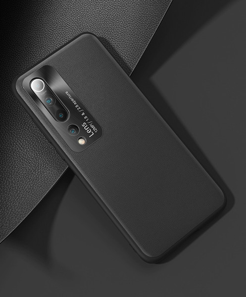selling xiaomi10 / 10pro mobile phone case, imitation leather mobile phone case, light and fashionable