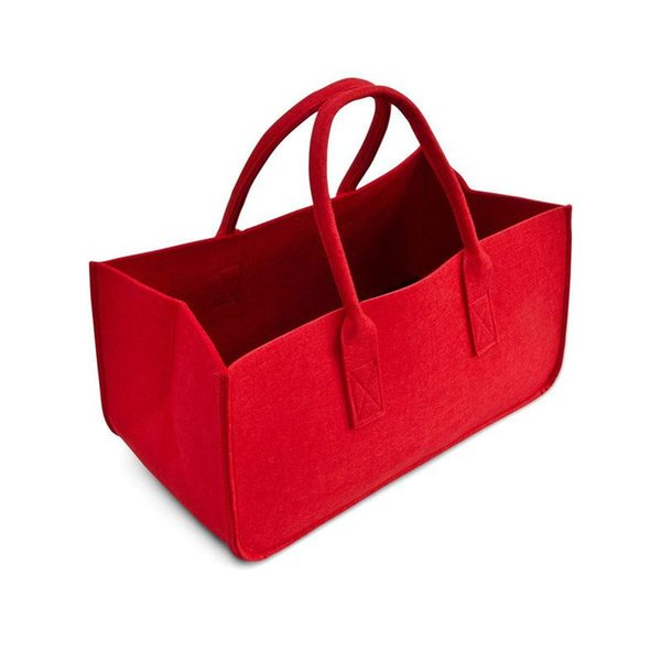 felt purse, felt storage bag large capacity casual shopping bag (499460814) photo