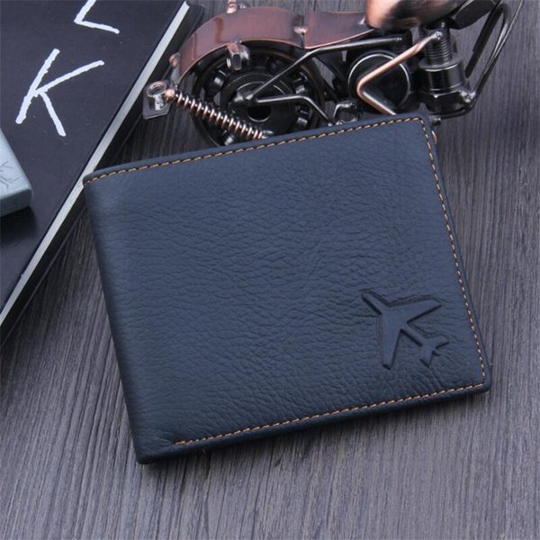 100% genuine leather wallet men brand purses black bifold wallet fashion short purses male gift holder slim wallets (489317836) photo