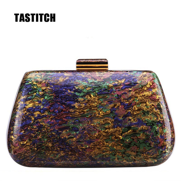 fashion classic acrylic bags colorful unique evening clutches women messenger shoulder bags party prom wedding handbags purses (564488024) photo