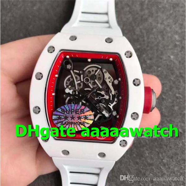 Топ KVF 055 Мужские часы Белый керамический корпус Циферблат M8215 с автоматическим ме