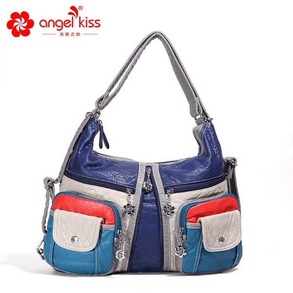 angelkiss fashion women shoulder crossbody bag female casual totes bag pu leather purse ladies hobo summer (520426008) photo