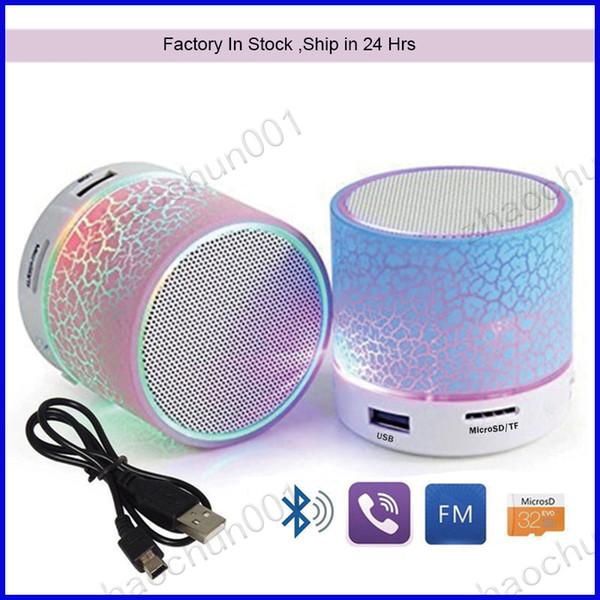 100x led portable mini bluetooth  peaker wirele   hand   peaker  with tf u b fm mic luminou  light  oundbar for iphone 6 7 8 x dhl