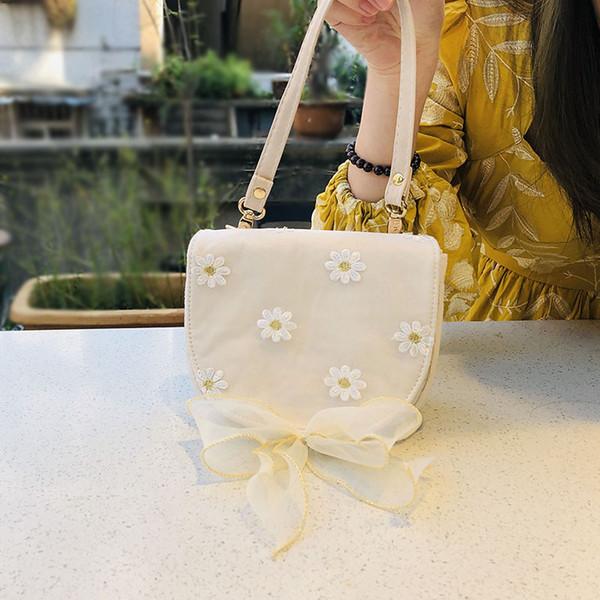 sutasuta handmade women embroidered lace bow purse small fresh shell bags tote shoulder bag crossbody purse (524272995) photo
