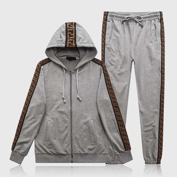 High Quality Luxury Designers Mens Sweatshirts Sweat Suit Brand Design Clothing Men S Tracksuits Jackets Sportswear Sets Jogging Suits 2019