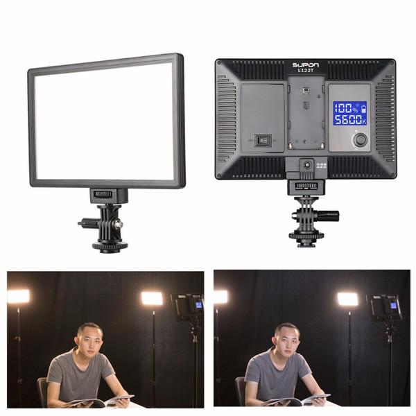 SUPON L122T Светодиодная лампа Видеокамера для видеосъемки Фотостудия Освещение 3300 ~ 5
