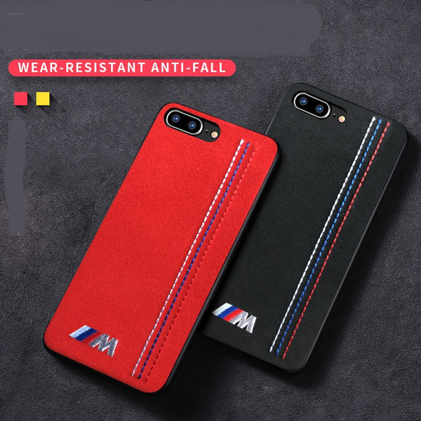 Embroidery BMW Sport Car Case For iPhone XS Max XR XS X 8 8 Plus 7 7Plus 6 6S 6 Plus