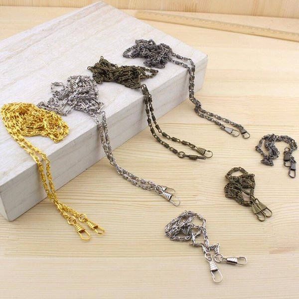 10pcs 120cm strong and durable vintage metal shoulder strap chain purse diy sewing handmade bag part cords purse handle lw800 (505543434) photo