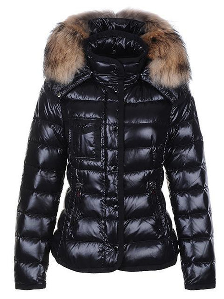 New Fashion Women Designer Jackets Short Female Slim Fur Collar Winter Coats High Quality Doudoune Femme Down Jacket Size XS-2XL
